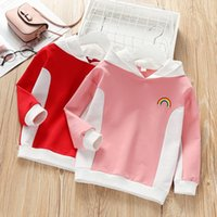Wholesale animal hoodies for babies for sale - Group buy C9oDt Girlssweater Autumn New for style baby Western pullover pulloverTop pulloverstyle color matching hoodie pullover long sleeve top K
