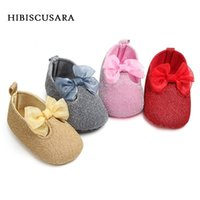 Wholesale gold boy toddler shoes for sale - Group buy Princess Baby Shoes Infant Girl Soft Sole First Walkers Shiny Shoes With Lace Bow Toddler Glitter Prewalkers Gold Silver