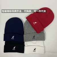 Kangaroo Kangol Autumn Winter New Fine Thread Knitted Embroidery Cold Hat Soft Leisure Warm Brimless for Men and Women UB7S
