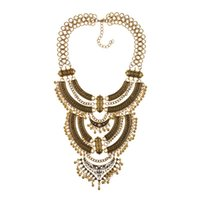 Wholesale gypsy vintage necklaces resale online - Vintage Statement Gypsy Necklace Women Bohemia Ethnic Big Choker Necklace Femme Maxi Power Large Collar Jewelry