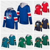 Wholesale blackhawks hoodies resale online - 2019 Customize Men Women Youth Blank Sharks Sabres Wings Devils avalanche Bruins Blackhawks Stars Rangers Wilds Pullove Silver Hoodie Jersey