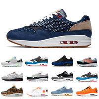 мужская обувь оптовых-Nike Air max 1 airmax Stock X 2020 Sketch To Shelf Schematic 1 Mens Casual shoes Inside Out Script 1s Elephant Tokyo Maze men women sports designer sneakers