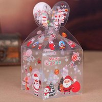 Wholesale apple bake for sale - Group buy Many Styles PVC Transparent Candy Box Christmas Decoration Gift Box and Packaging Santa Claus Snowman Elk Reindeer Candy Apple Boxes OWC1777
