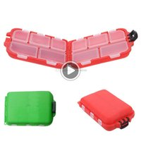 Wholesale fishing lure store for sale - Group buy I5V2 Cute Fishing Lures Tackle Storage Box Case For Hooks Baits Compartments store F00179 BARD