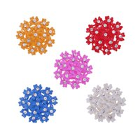 Wholesale 5pcs Kids Crafts Supply Flower Button Home Decors DIY Flatback Ornaments Sewing Crafts Embellishments mm