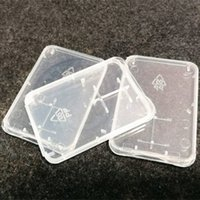 Micro SD Memory Card Protection Box SD Card Box Ultra Thin Transparent Plastic Storage Box Retail