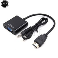 Wholesale ps4 card for sale - Group buy Consumer Electronics HDMI to VGA adapter Male to Female HDMI Cable HD TV Box Monitor for XBOX PS4 mm aux Audio