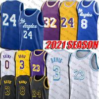 LBJ Basketball Jersey King Black Anthony Mamba Davis Jerseys Kyle Kuzma Jerseys Retro 2021 City Uniform Minneapolis Blue Vintage Jersey