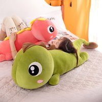 dinossauro grande venda por atacado-Gigantes Big Eyes Dinosaur Toy Plush Macio Stuffed Animal dos desenhos animados do dinossauro Namorada boneca Pillow Baby Gift Natal dos miúdos Dormir