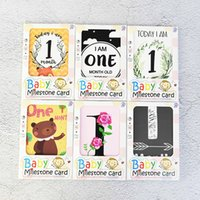 Wholesale baby girl birthday party invitations for sale - Group buy 12pcs Baby Kids First Birthday invitation Greetings Card Boy Girls to Month Memorial Card Year Old Birthday Party Supply