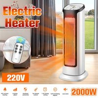 Wholesale portable heaters for sale - Group buy 220V W Portable Electric PTC Ceramic Heater Air Fan Mini Home Office Indoor Tower Electric Heater Fan Winter Space Warmer