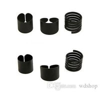 Wholesale wide band wedding ring sets for sale - Group buy 3pcs Set Black Matte Midi Ring Set Fashion Women Wide Knuckle Rings Open Wedding Bands Sets Jewelry Set
