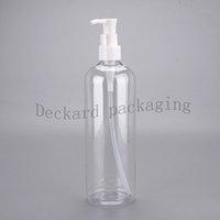Wholesale plastic bottle cylinder for sale - Group buy 20X400ml empty cylinder shape shampoo plastic bottles lotion pump PET cosmetic container Lotion bottle more size choose