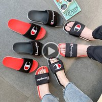 Wholesale champion slipper for sale - Group buy B19M colors Women Men champion Letter Sandal Lovers shoes slipper Slip on Flip Flops Wee Sandals Beach Water Rain shoes DHL JY627