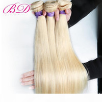 Wholesale bd hair resale online - BD Malaysian Straight Hair Human Hair Extensions Inch Non Remy Hair Blonde Bundles Price