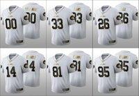Wholesale jersey jets resale online - New York Jets Men Sam Darnold Le Veon Bell Jamal Adams Custom Women Youth NFL th White Golden Edition Jersey