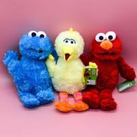 Wholesale elmo stuffed toys resale online - Seasame Street Elmo Kids Toy Stuffed doll Plush Toy Birthday Gift CM