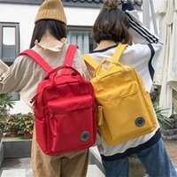 Wholesale canvas satchel backpack for women resale online - Osmond Women Yellow Red Back Packs Feminine Canvas Backpack For Teenager Girls Casual Travel Mochila Satchel School Bags Female