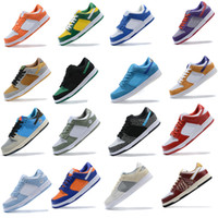 Wholesale navy blue gold tie for sale - Group buy 2020 men women Low Brazil causals Shoes Viotech Shadow Raygun Tie Dye Paris mens outdoor trainer sports sneakers