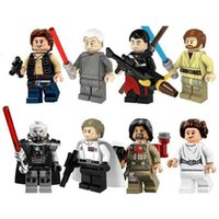 Wholesale stars wars figures resale online - Star Minifigures Building Blocks Sith Lord lightsaber Clone Trooper Leia Organa Solo Action Figures Wars Christmas Kid Toys
