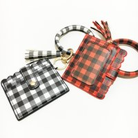 Wholesale designer wristlet clutches for sale - Group buy Fashion Leopard Snakeskin Plaid Clutch Keychain Big O Wristlet Bracelet Tassel Credit Cards Wallet Key ring Tassel Keychain KKB2866