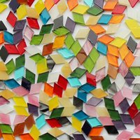 Wholesale puzzles tables for sale - Group buy 200g Diamond Shape Mica Stained Glass Mosaic Tiles Mosaic Making Tiles For Puzzle Art Diy Craft Lamp Table Accessories wmtpzR dh_niceshop