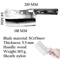 Wholesale butcher knives for sale - Group buy Ykc Hot Cleaver Knife Hand Forged Mini Chef Kitchen Knives Butcher Meat Hatchet Outdoor Camping Tool Cooking Christmas Gift