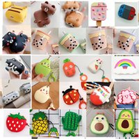 Wholesale airpods case cover for sale – best earphone cover For Airpods Cases Avocado pear Orange Egg Carrot rabbit Strawberry Cactus cartoon Silicone Protector Airpod Cover Earpod Case