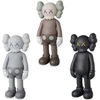 Wholesale figures resale online - 20CM mini Doll design modern art smlll lie Original Fake companion toy Action Figures PVC Graffiti Action toy figure statue Luminous KAWS