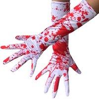 Wholesale drop gloves for sale - Group buy Halloween Blood Drop Gloves Women Dress Up Long Full Finger Gloves Cosplay Horror Ghosts Carnival Fancy Dress Costume