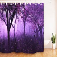 Wholesale tree shower curtain fabric for sale - Group buy 72 Black Tree Purple Lavender Waterproof Shower Curtains Floral Washable Polyester Bathroom Curtain Fabric For Bathtub Decor wmtPOT