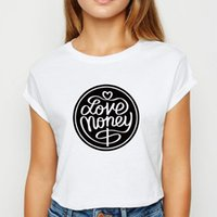 Wholesale pretty lady clothing for sale - Group buy Love Money tshirt Young Ladies Girls Popular T Shirt Harajuku Plus Size Spring Summer Pretty Tops Clothing O Collar T shirt