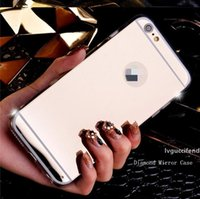Wholesale shining armor online – custom Shockproof Mirror Cover for iphone plus Case Armor Bling Shining TPU PC Hard Back Cover for Samsung S10plus S8 S9 Huawei case