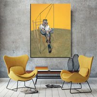 Wholesale three paintings wall art resale online - Francis Bacon quot Three Studies of Lucian Freud quot Home Decor Handpainted HD Print Oil Painting On Canvas Wall Art Canvas Pictures