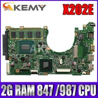 Wholesale Akemy X202E Laptop motherboard For Asus X202E X201E S200E X201EP Test original mainboard G RAM CPU