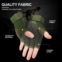 Wholesale women fingerless motorcycle gloves for sale - Group buy Fashion Adjustable Fingerless Gloves Men Non Slip Cycling Gloves Women Tactical Military Motorcycle Hand Gloves Airsoft Shooting
