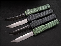 Wholesale 2020 Micro NEW ut T E blade out the front Combat Tactical Knife CNC D2 steel T6 aluminum handle EDC Pocket knives