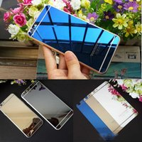 Wholesale iphone 4s full for sale - Group buy 2pic Front Back Tempered Glass For iPhone s s plus Full Cover Screen Protector Mirror Effect Color protective film