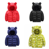 Wholesale new hoodies kids for sale - Group buy Kids Down Hoodies Coats Cotton Lighter Zipper New Pressing Technology Long Sleeve Toddler Baby Boys Girls Winter Jacket Snow Coat