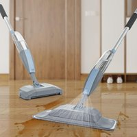 Wholesale broom sweepers resale online - Floor Mop With Spray Vacuum Cleaner Broom B1 Hand Sweeper Household Cleaning Mop Lazy Mop For Washing Floors bbyJad yh_pack