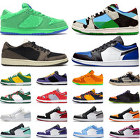 zapatos jordan  al por mayor-nike sb dunk low air jordan 1 Zapatillas de skate chunky dunky Bears Green Sashiko 1s zapatillas de baloncesto low Shattered Backboard zapatillas deportivas para