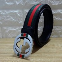 Wholesale green designer belt for sale - Group buy Popular Party Belts Men and Women Fashion Green Red Design Leather Canvas Belt High Quality Cowskin Waist Belt Jeans Casual Gird