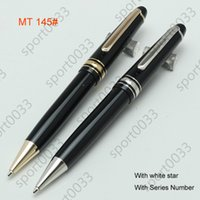 Wholesale Metal black resin and rollerball pen Ballpoint fountain pen office school supplies blanc pen provided with