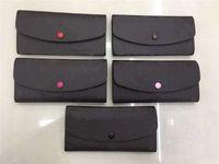 2020 Wholesale 9 colors fashion single zipper pocke men women leather wallet lady ladies long purse with orange box card