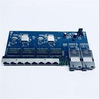 Wholesale switched board for sale - Group buy 5pcs M Gigabit Ethernet switch Ethernet Fiber Optical Media Converter Single Mode RJ45 UTP and SC fiber Port Board PCB