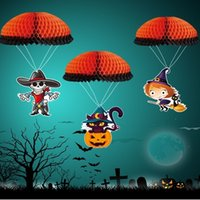 ingrosso palle da paracadute-Halloween Horror Decoration Paracadute Honeycomb Ball Suit Suit Strega Skull Head Shop Shopping Mall BAR KTV Pendant