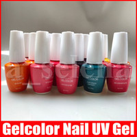 Wholesale pink nails designs for sale - Group buy 15ml Gelcolor Soak Off UV Gel Nail Polish Fangernail Beauty Care Nail Art Design Colors