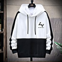 Wholesale korean sweater fashion boys resale online - 2020 Autumn New Style Sweater Boys and Young Students Korean Fashion Casual Loose Hooded Men s Top