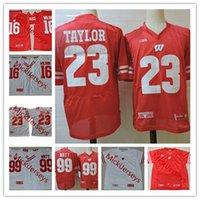 Wholesale football badgers for sale - Group buy Mens NCAA Wisconsin Badgers Jonathan Taylor Football Jerseys Graham Mert Russell Wilson J J Watt JJ Watt Wisconsin Jersey S XL
