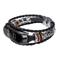Wholesale bracelet beading for sale - Group buy Retro Mi Band Wrist Strap For Xiaomi Mi Band Leather Replacement Leather Beading Bracelet Strap Weave Braided